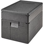 Cambro Cam GoBox® Full Size 6 inch Deep EPP Top Loader Insulated Food Pan Carrier with Extender