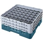 Cambro 49S1114414 Teal Camrack Customizable 49 Compartment 11 3/4 inch Glass Rack