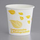 EcoChoice 4 oz. Leaf Print Compostable Paper Hot Cup - 1000/Case