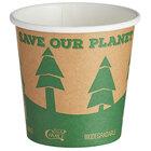 EcoChoice 4 oz. Kraft Compostable Paper Hot Cup - 1000/Case