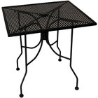 American Tables & Seating ALM3636 36 inch x 36 inch Square Top Outdoor Table with Umbrella Hole