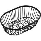 American Metalcraft WBBV90 Black Oval Wire Basket - 9 inch x 2 3/4 inch