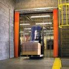 Curtron QSD-8-50-UM-48X84 48 inchW x 84 inchH PVC Strip Door - Standard Grade