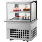 Turbo-Air TBP36-46FDN 35 1/2 inch Square Glass Two Tier Drop-In Refrigerated Bakery Display Case