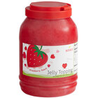 Bossen 8.38 lb. Strawberry Heart-Shaped Jelly Topping - 4/Case