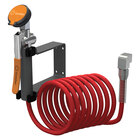 Guardian Equipment G5016 Wall Mounted Drench Unit with Squeeze Valve and 12' Coiled Nylon Hose