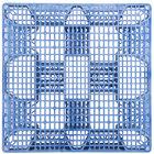 Regency HDSC 48 inch x 40 inch Blue Polyethylene Stackable Pallet