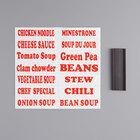 Avantco S30LABELS Magnetic Labels for Soup Kettles / Warmers