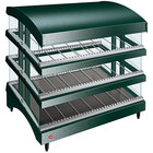 Hatco GR3SDS-33TCT Green Glo-Ray 33 inch Slanted Triple Shelf Heated Glass Merchandising Warmer with Curved Top - 120/208-240V, 2723W