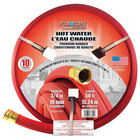 Flexon FAR3450 3/4 inch x 50' Red Contractor Grade Hot Water Commercial Hose