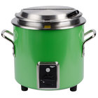 Vollrath 7217235 Green Apple Finish Retro 11 Qt. Stock Pot Kettle Rethermalizer - 120V,1450W