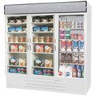Beverage-Air MMRF72HC-1-WW MarketMax 75 inch White Three Section Glass Door Dual Temperature Merchandiser