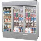 Beverage-Air MMRF72HC-1-SW MarketMax 75 inch Stainless Steel Three Section Glass Door Dual Temperature Merchandiser