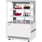 Turbo Air TBP36-54NN-W 35 1/2 inch Square Glass Three Tier White Refrigerated Bakery Display Case