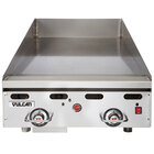 Vulcan 924RX-30C 24 inch Liquid Propane Chrome Top Commercial Griddle with Snap-Action Thermostatic Controls and Extra Deep Plate - 54,000 BTU