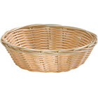 Tablecraft 1177W 7 inch x 2 inch Round Natural-Colored Polypropylene / Steel Basket - 12/Pack