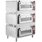 Avantco DPO-3S Triple Deck Pizza/Bakery Oven with Three Independent Chambers; (3) 1700W, 120V