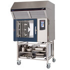 Blodgett-Combi BLCT-62E-H Electric Boiler-Free 6 Full Size Sheet Pan Combi Oven with Touchscreen Controls and Hoodini Ventless Hood - 208V / 3 Phase