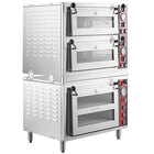 Avantco DPO-1DS1DD Quadruple Deck Pizza/Bakery Oven with Three Independent Chambers; (2) 3200W, 240V