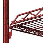 Metro HDM2148Q-DF qwikSLOT Drop Mat Flame Red Wire Shelf - 21 inch x 48 inch