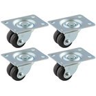 True 884829 Equivalent 1 1/2 inch Swivel Plate Casters - 4/Set