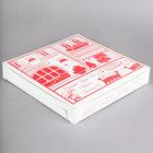 12 inch x 12 inch x 2 inch Clay Coated Pizza Box   - 100/Bundle