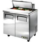 True TSSU-36-8 36 inch 2 Door Refrigerated Sandwich Prep Table