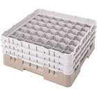 Cambro 49S1114184 Beige Camrack Customizable 49 Compartment 11 3/4 inch Glass Rack