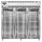 Continental Refrigerator D3RN-SS-GD 78 inch Glass Door Reach-In Refrigerator