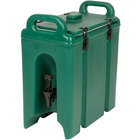 Cambro 250LCD519 Camtainers® 2.5 Gallon Kentucky Green Insulated Beverage Dispenser