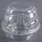 Swirl Dome 1 Compartment Hinged Clear Cupcake Container - 270 / Case