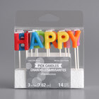 Creative Converting 101047 Assorted Bright Color Happy Birthday! Candle Pick Set - 14/Set