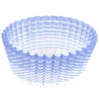 Ateco 6408 1 inch x 3/4 inch Blue Striped Baking Cups - 200/Box