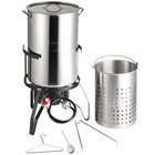 Backyard Pro 50 Qt. Outdoor Seafood Boiler / Steamer Kit with Stainless Steel Pot - 110,000 BTU
