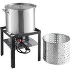 Backyard Pro 80 Qt. Aluminum Outdoor Seafood Boiler / Steamer Kit - 110,000 BTU