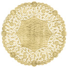 12 inch Gold Foil Lace Doily - 500/Case