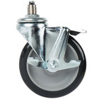 Main Street Equipment 541090130 5 inch Stem Caster With Brake