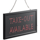 Choice 19 inch x 10 inch LED Rectangular Take-Out Available Sign with Two Display Modes
