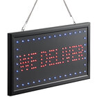 Choice 19 inch x 10 inch LED Rectangular We Deliver Sign with Two Display Modes