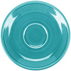 Homer Laughlin 470107 Fiesta Turquoise 5 7/8 inch Saucer - 12 / Case