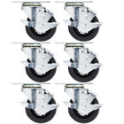 Beverage-Air 00C31-030ABB Equivalent 3 inch Plate Casters - 6/Set