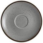 Sample - Acopa Keystone 6 1/2 inch Granite Gray Porcelain Saucer