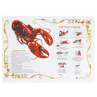 Hoffmaster 310601 10 inch x 14 inch Lobster Design Paper Placemat - 1000 / Case