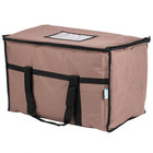 Choice Insulated Food Delivery Bag / Pan Carrier, Brown Nylon, 23