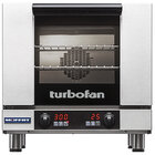 Moffat E23D3-P Turbofan Single Deck Half Size Electric Convection Oven with Digital Controls - 208V, 1 Phase, 2.7 kW
