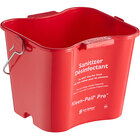 San Jamar KPP97RD 3 Qt. Red Sanitizing Kleen-Pail Pro