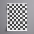 Choice 9 inch x 12 inch Black Check Basket Liner / Deli Sandwich Wrap Paper - 1000/Pack