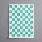 Choice 9 inch x 12 inch Green Check Basket Liner / Deli Sandwich Wrap Paper - 5000/Case