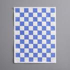 Choice 9 inch x 12 inch Blue Check Basket Liner / Deli Sandwich Wrap Paper - 1000/Pack