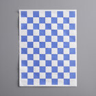 Choice 9 inch x 12 inch Blue Check Basket Liner / Deli Sandwich Wrap Paper - 5000/Case